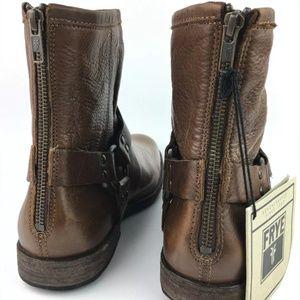 Frye Shoes - Frye Phillip Harness Cognac Ankle Boots